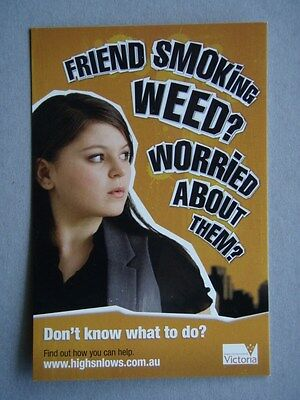 Friend Smoking Weed? Worried About Them? Avant Card #13628 Postcard