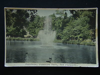 Fountain Pukekura Park New Plymouth Postcard