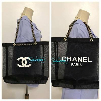b5e972be3754 Auth GHW Chanel Beauty Mesh Makeup VIP Gift Bag (Slight Interior Imperfect)