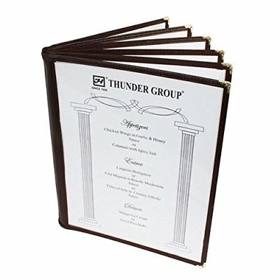 20 Non-Toxic Restaurant Menu Cover Fold 8.5X11 Brown Trim 6 Page 12 View Cafe