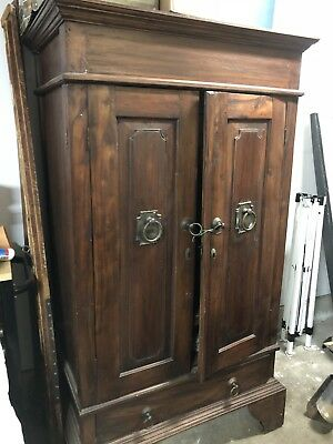 Antique Pine Wardrobe Armoire - Moving Sale