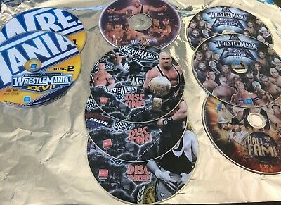 WWE Wrestlemania DVD sets (without covers) all for $45 or each set for $10
