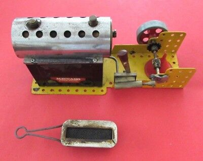 Meccano - Steam Engine (1960's or 1970's) Reasonable for Age some wear & tear