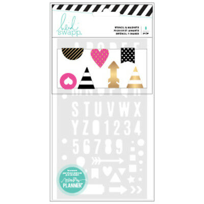 Heidi Swapp - Stencils & Magnetic Clips Travelers Note Book BUJO