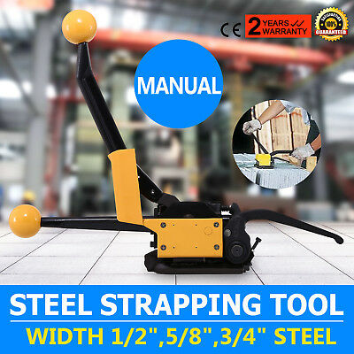 """A333 Manual Steel Strapping Tool No buckle High Strength 1/2""""-3/4"""" Packaging"""