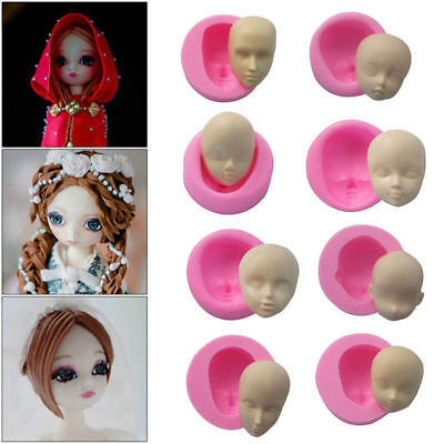3D Baby Face Silicone Cake Mould Fondant Sugarpaste DIY Doll Head Mold Tools