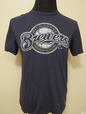 MLB Milwaukee Brewers LGE Logo Printed Tee by Majestic Threads