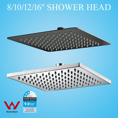 Wels Square 8 10 12 16 Rainfall Overhead Rain Shower Head For Arm