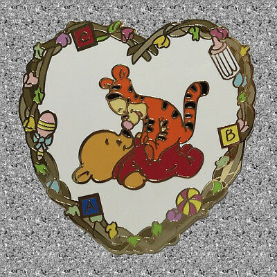 Valentine Baby Pooh & Tigger Heart Pin  - Disney Auctions LE 250