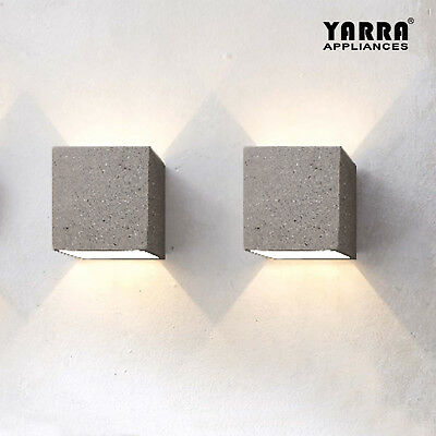 Indoor Cube Concrete Wall Light Sconce Single Head G9 Home Decor Living Room