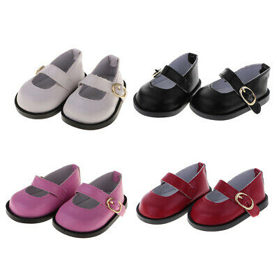 18inch Doll Accessories Ankle Strap Shoes for American Girl Dolls -4 Pairs