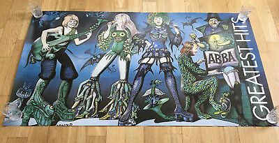 Poster ABBA Greatest Hits, 1970s Large poster 56 x 100 cm from Sweden