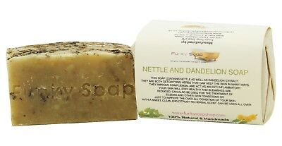 1 piece Nettle and Dandelion Soap Bar 100% Natural Handmade 120g
