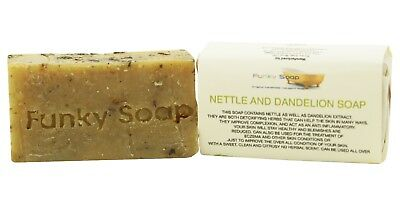 1 piece Nettle and Dandelion Soap Bar 100% Natural Handmade 65g