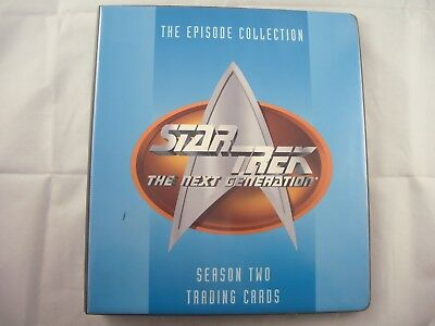 Star Trek The Next Generation Season 2 Trading Card Binder and Base set