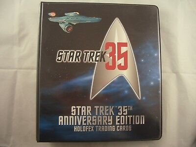 Star Trek 35th Anniversary edition Holofex Trading Card Binder and Base set