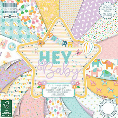 """First Edition """"Hey Baby""""  12"""" x 12"""" Paper Pad"""