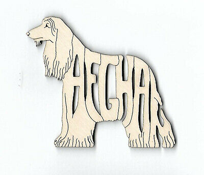 Afghan Hound Dog wood laser cut Magnet or Ornament