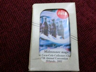 27th Annual Coca Cola Collector Club Convention Playing Cards Orlando NIB 2001