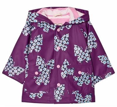 Hatley Girls Floral Print Butterflies Raincoat