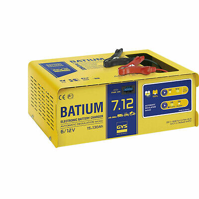 GYS Batium 7-12 6/12V automatic batteries charger with microprocessor