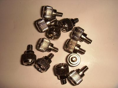 Silver Thumb Screws 6-32 5 mm thread Best for Case Hdd etc 12 for $2.99