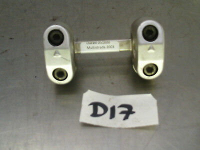 2003 Ducati Multistrada 1000 Ds Handle Bar Clamps Risers Brackets *D17