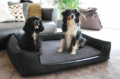tierlando Ultimate Linus Orthopedic Dog Bed Visco Plus Faux Lether