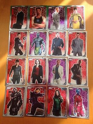 Topps Marvel Missions - Full Set Of 16 MIRROR FOIL Trading Cards AVENGERS