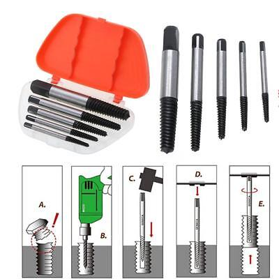 Breakage Screw Extractor Easy Out Drill Bits Damaged Broken Bolt Remove Tools G