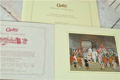 Cash's Classic Collection Lady Godiva Procession 1829 Silk Tapestry 10x13""