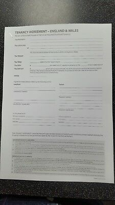 Un Furnished Tenancy Agreement Free Postage