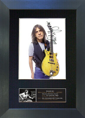 MALCOLM YOUNG ACDC Signed Mounted Autograph Photo Prints A4 690