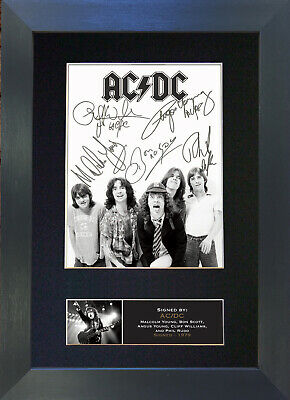 ACDC Signed Mounted Reproduction Autograph Photo Prints A4 689