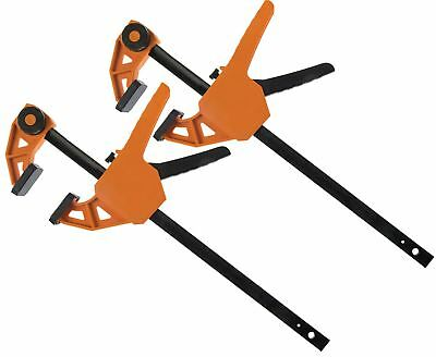 2 x Triton 300mm Quick Grip Vice Speed Rapid Ratcheting Woodwork Bar Clamps