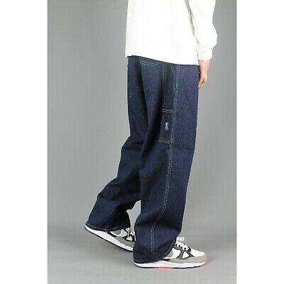 Three Sixty 378 Youths Carpenter Loose Fit Blue Indigo Denim Jeans Baggy Skate