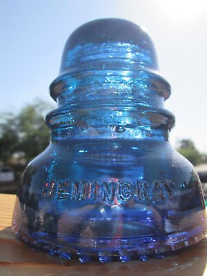 Vintage Hemingray 40 Purple Blue Glass Insulator Colored / Stained CD 152