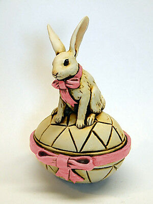 Harmony Kingdom Artst Neil Eyre Designs Rabbit Bunny Easter Egg Box LE 40