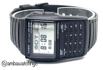 Casio DBC32-1A, 25-Page Databank Watch, Calculator, Resin Band, 10 Year Battery