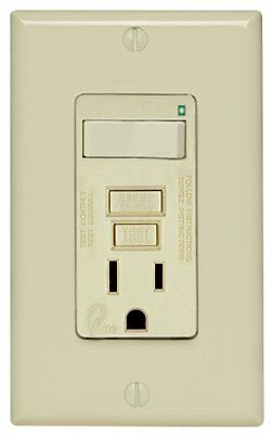 (K) Leviton 7299-NA 15a, 125v, Smart Lock Pro Switch & GFCI Outlet, Almond QTY 3