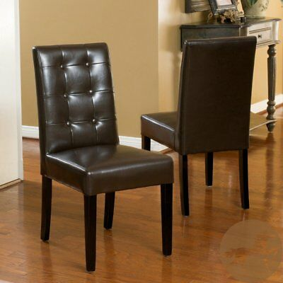 Best Selling Home Roland Leather Dining Chairs - Set of 2