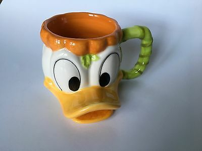 DONALD DUCK MUG. Happy Halloween Pumpkin Disney Parks 3D Kids MUG