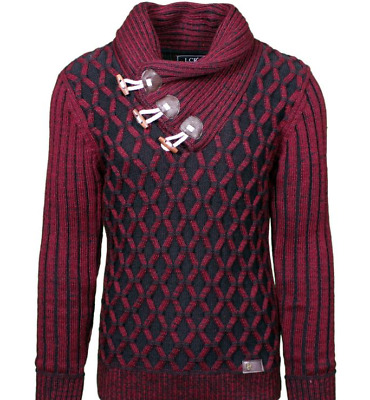 LCR Men/'s Fashion Sweater Color Burgundy 7095