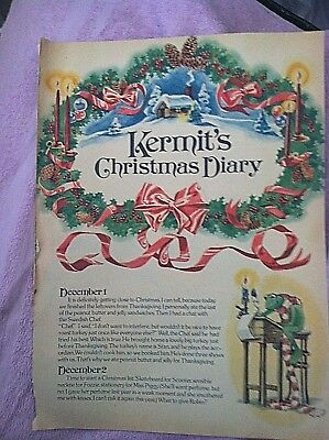 RARE Kermit's Christmas Diary by Jerry Juhl Jim Henson Muppets Sesame Street '79