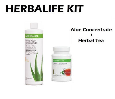 HERBALIFE START KIT  ALOE CONCENTRATE 473ml and  HERBAL TEA 1.8 Oz