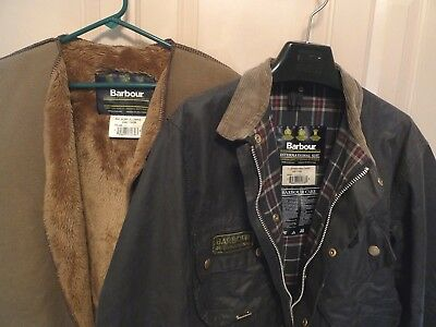 Barbour- A7 International Suit  Waxed Cotton Jacket & Liner -Made @uk- Size 44
