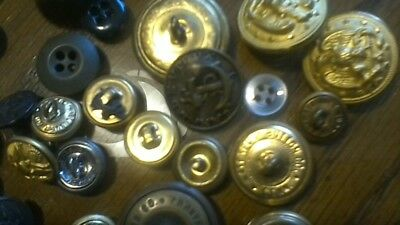Original Wwii Us Army Military Buttons Lot