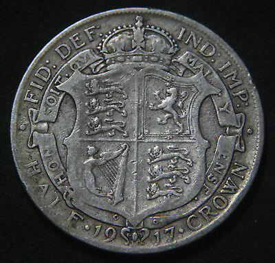 George V 1911-1919 Sterling Silver Half-Crown Buyer's Choice of Date