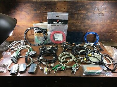 Huge Lot Hp Pomona Agilent Amphenol Belden Coax Network Oscilloscope Cables