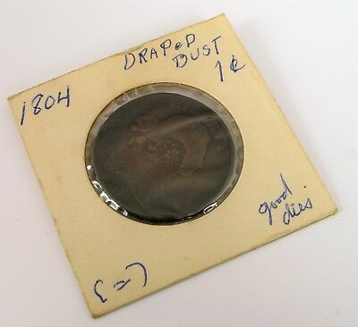 Antique 1804 Draped Bust 1 Half Cent Coin American Us Coinage Rare Good Die !